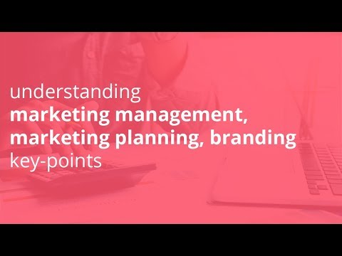 understanding marketing management, marketing planning, branding key points