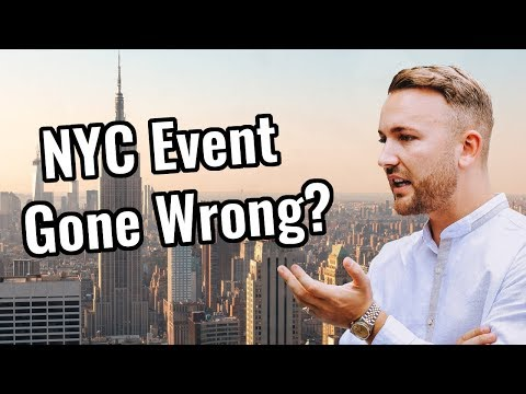 Screwed Up My New York Marketing Event?  - US Vlog Series - Episode 1