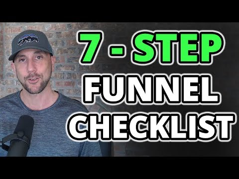 7 Step Sales Funnel Checklist - How To Launch A Million Dollar Funnel