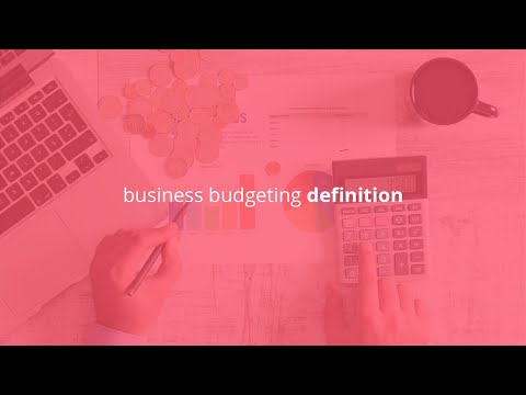 business budgeting definition