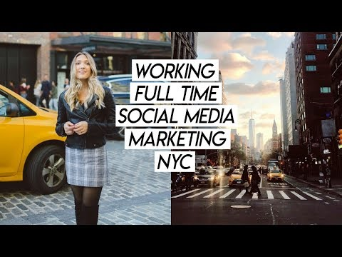 WORKING FULL TIME IN SOCIAL MEDIA NYC WORK WEEK! Week in My Life!