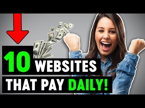 10 Websites That Will Pay You DAILY Within 24 hours! (Easy Work From Home Jobs)