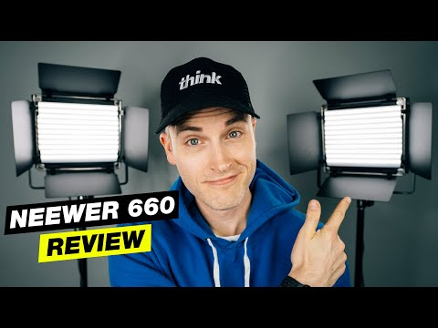 Best Lighting for YouTube Videos Under $150? (Neewer 660 LED Panel Review)
