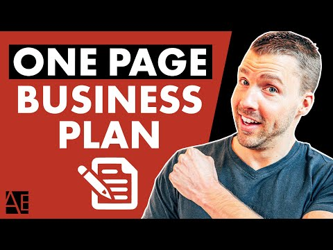 How To Write A One Page BUSINESS PLAN   Adam Erhart